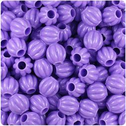 300 Lilac Purple Opaque 10mm Melon Pony Beads Made in the US