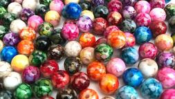 300 pcs 8mm Multi Color Beads Round Bead Jewelry Making Craf