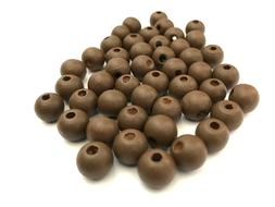 300 pcs Brown Wood Beads 10mm Bead Jewelry Making Wooden Too