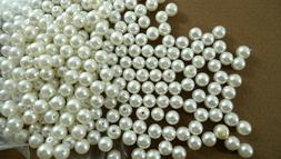 300 Round White Faux PEARL BEADS 5mm Crafts Jewelry Embellis