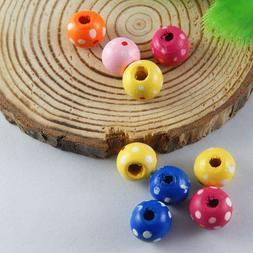 300pcs Multi Color Wood Beads Charm For Jewelry Bracelet Pen