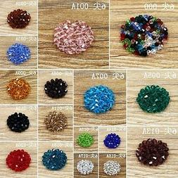 30pcs Exquisite 6MM  bicone crystal beads Color&Quantity Opt