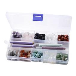 340x Crystal Natural Gemstone Beads Irregular Necklace Jewel