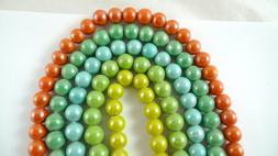 36 Opaque GLASS BEADS 10mm Assorted Colors CHOOSE