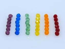 36 Pcs. SWAROVSKI® Crystal Rainbow Beads, Art. #5000 6mm Ro