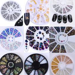 3D Nail Art Rhinestones Glitters Beads Acrylic Tips Decorati