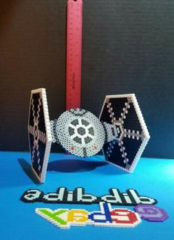 3D tie fighter perler Star Wars kandi rave EDC PLUR hama art