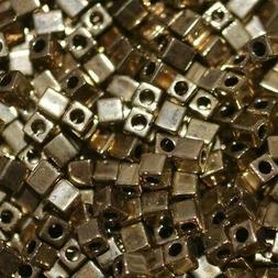 Miyuki 3mm Cube Beads - Metallic Dark Bronze
