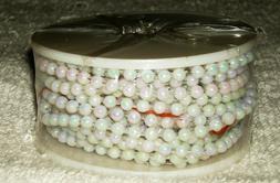 3MM x 12 YARD SPOOL FAUX PLASTIC IRIDESCENT PEARL STRING BEA