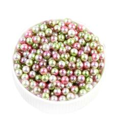 4/5/6mm Multicolor Round ABS Imitation Pearl Beads Decoratio