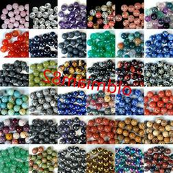 4/6/8/10/12mm Natural Mixed Gemstone Round Loose Bead Choose