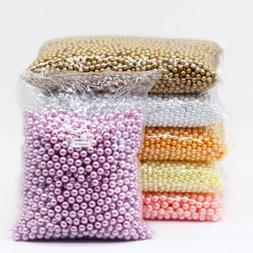 4/6/8/10mm assorted Round Pearl loose Acrylic beads crafts j