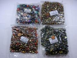 4 LBS 1200+ Pieces Assorted India Fire Polished Glass Beads