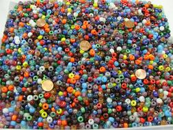 2 Pounds Assorted Color 6mm x 9mm Glass Pony Beads India Bul