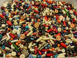 4 Pounds Assorted Water Buffalo Bone Beads / Scrap Pieces /