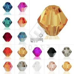 40/50/120/150pcs Bicone Crystal Beads Loose Spacer Jewelry M