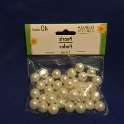 40 LARGE Pearls Beads for Crafting 14MM Beading Jewelry Maki