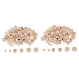 440pcs Wooden Beads Large Hole Mix Jewelry Making Macrame Ki