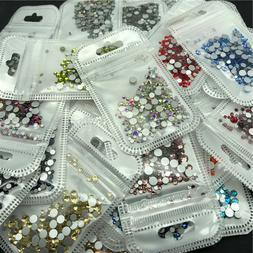 46 colors 2-5mm 400pcs Nail Art Rhinestones Crystal Gems 3D