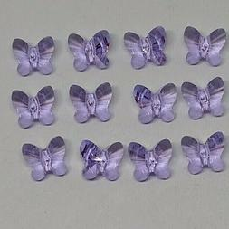 12pc Swarovski Crystal Violet 6mm Butterfly 5754 Beads; CLEA