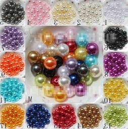 Wholesale 4mm/6mm/8mm/10mm Acrylic Round Pearl DIY Spacer Lo