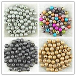 4mm 6mm 8mm 10mm Acrylic Stardust Round Spacer Loose Beads D