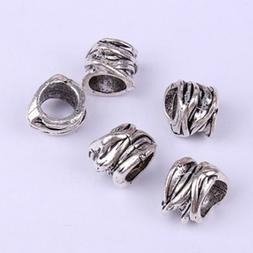 4Pcs Braiding Beads Hair Accessory Hair Cuffs Filigree Tube