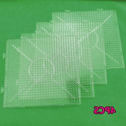 4pcs Pegboards Large Clear Square Board For Hama Fuse Perler
