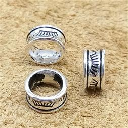 5 Sterling Silver Large Hole Eye Hair Beads 925 Silver for E
