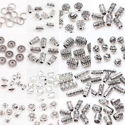 50/100Pc Tibetan Silver Metal Charms Loose Spacer Beads Whol