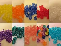 50 - 13mm Translucent Star Pony Beads Made In USA - Color ch