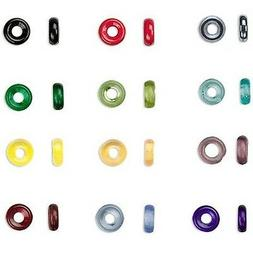 50 Czech Glass 8mm x 2.5mm Round Rondelle Jewelry Ring Beads