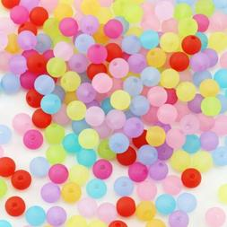 50 Frosted Glass Beads Solid 6mm BULK Wholesale Jewelry Supp