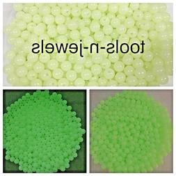100 Acrylic Plastic Beads Glow In The Dark Bead Luminous Rou