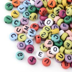 50 Letter Beads Alphabet Beads Matte Bulk Beads Wholesale 7m
