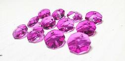 50 Magenta 14mm Octagon Chandelier Crystals Beads Jewelry Su