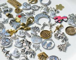 50 Mixed Lot of Assorted  Charms for Jewelry & Craft Wholesa