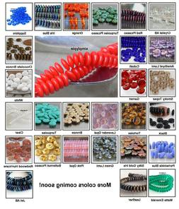 Rondelle Czech Glass Beads 6mm 50 Pcs Choose Color Wafer Dis