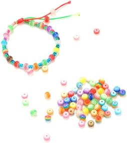 50 Striped Beads 6mm Acrylic Wholesale Bulk Rainbow Colors A