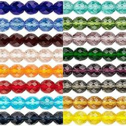 50 Transparent Czech Glass Round Faceted Fire Polished Beads