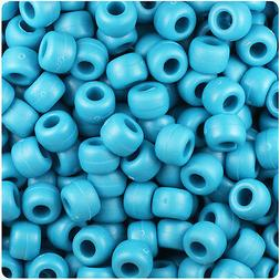 500 Dark Turquoise Matte 9x6mm Barrel Pony Beads Made in the