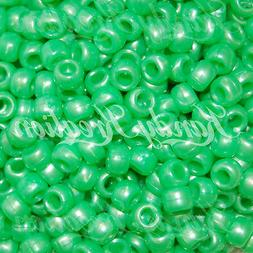 500 Green Pearl 9x6mm Barrel Pony Beads for Scout Bird Toy p