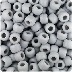 500 Grey Matte 9x6mm Barrel Pony Beads Made in the USA by Th