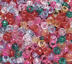 500 Multi Sparkle 9x6mm Pony Beads for school crafts hair de
