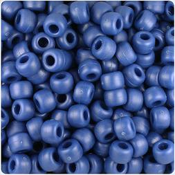 500 Navy Blue Matte 9x6mm Barrel Pony Beads Made in the USA