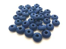 500 pcs 10mm Blue Rondelle Beads Bead Dark Jewelry Making Wo