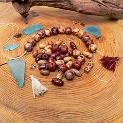 500 PCS Wooden Beads for Jewelry Making Adults, Assorted Afr