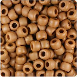 500 Tiger Eye Brown Matte 9x6mm Barrel Pony Beads Made in th