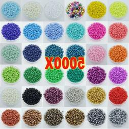5000pcs Lots 2mm Glass Beads Seed Pearls Round Spacer For Je