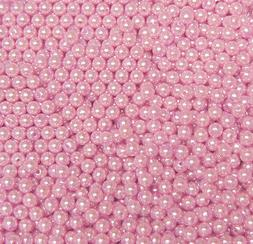 500pc Round 6mm Beads Pink Pearl Color for crafts jewelry ne